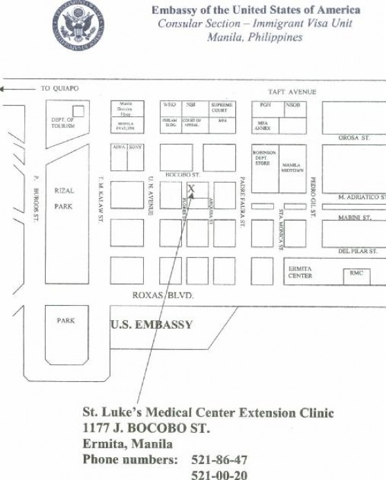 st luke s medical center extension clinic map location